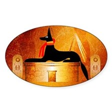 Anubis, ancient Egyptian god Decal