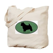 Norwich Terrier (green) Tote Bag
