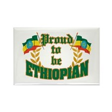 Proud to be Ethiopian Rectangle Magnet