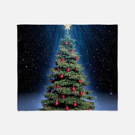 Beautiful Christmas Tree Throw Blanket