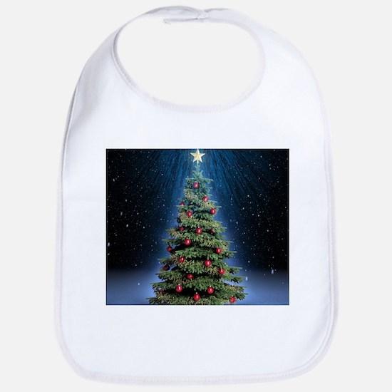 Beautiful Christmas Tree Bib