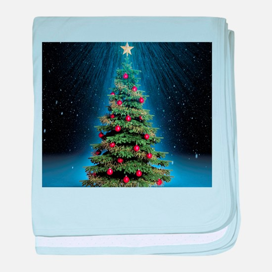 Beautiful Christmas Tree baby blanket