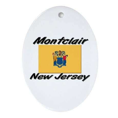 Montclair New Jersey Oval Ornament