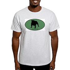 English Bulldog (green) T-Shirt