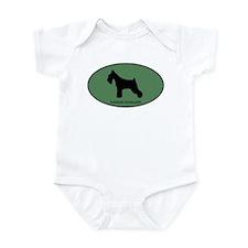 Standard Schnauzer (green) Infant Bodysuit