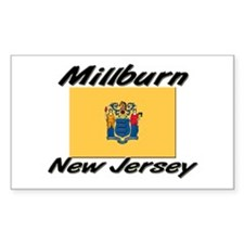 Millburn New Jersey Rectangle Decal