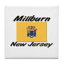 Millburn New Jersey Tile Coaster