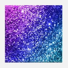 Glitter Ocean Bokeh Tile Coaster