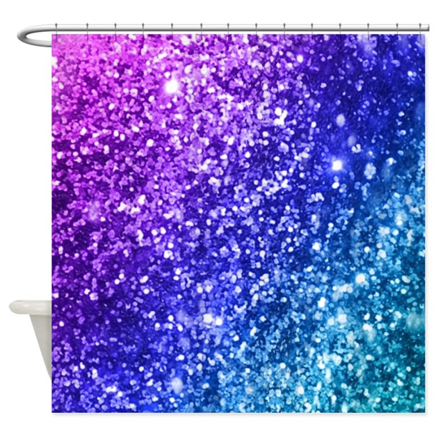 Glitter ocean bokeh shower curtain by admin cp68870216 for Teal coloured bathroom accessories