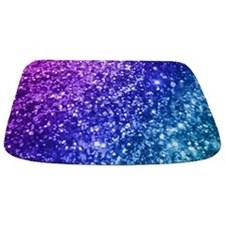 Glitter Ocean Bokeh Bathmat