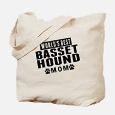 Worlds Best Basset Hound Mom Tote Bag