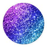 Glitter Round Car Magnets