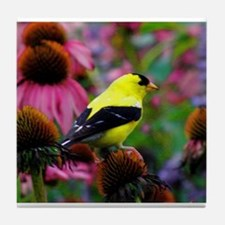 Gold Finch Tile Coaster