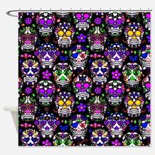 Candy Skulls Pattern Shower Curtain