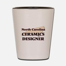 North Carolina Ceramics Designer Shot Glass