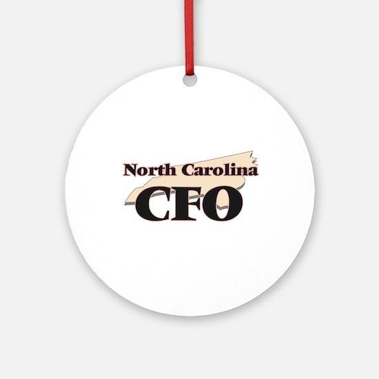 North Carolina Cfo Round Ornament