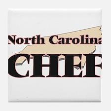 North Carolina Chef Tile Coaster