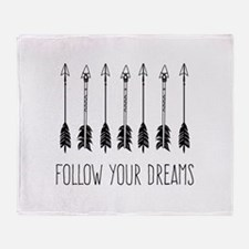 Follow Your Dreams Throw Blanket