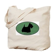 Scottish Terrier (green) Tote Bag