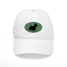 Scottish Terrier (green) Baseball Cap