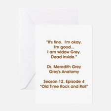 WIDOW GREY Greeting Card
