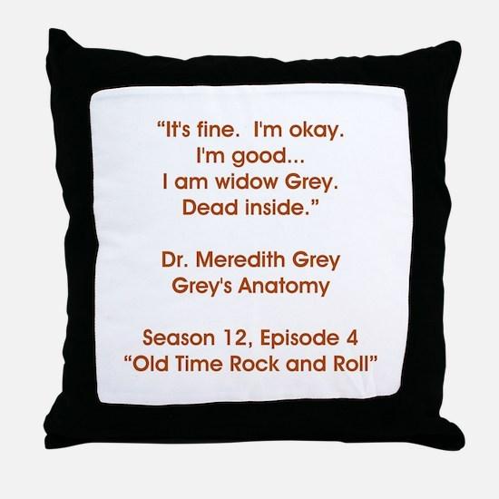WIDOW GREY Throw Pillow