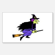 Halloween Flying Witch Decal