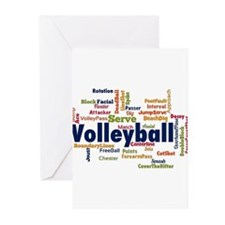 Unique Volleyball Greeting Cards (Pk of 20)