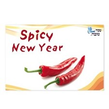 spicy new year Postcards (Package of 8)