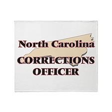 North Carolina Corrections Officer Throw Blanket