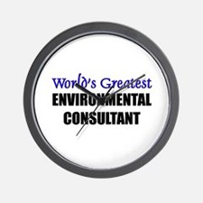 Worlds Greatest ENVIRONMENTAL CONSULTANT Wall Cloc