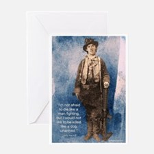 Billy the Kid Quote Greeting Card