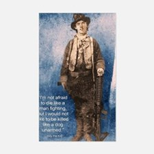 Billy the Kid Quote Decal