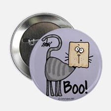 Boo! kitty Button