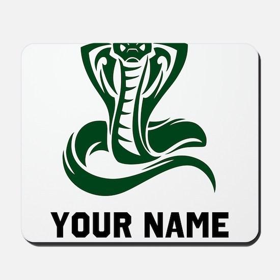Green Cobra Snake Mousepad