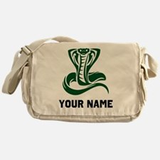 Green Cobra Snake Messenger Bag