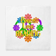 Peace Love Reading Queen Duvet