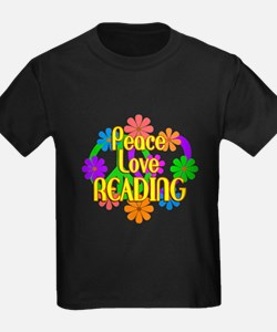 Peace Love Reading T