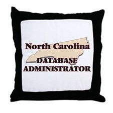 North Carolina Database Administrator Throw Pillow