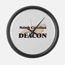 North Carolina Deacon Large Wall Clock