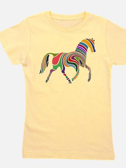 Cute Horse patterns Girl's Tee