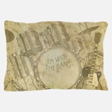 Vintage Drums & Guitar Pillow Case
