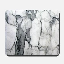 abstract chic white marble Mousepad