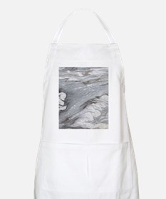 abstract chic white marble Apron