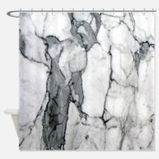 abstract chic white marble Shower Curtain