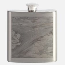 abstract chic white marble Flask