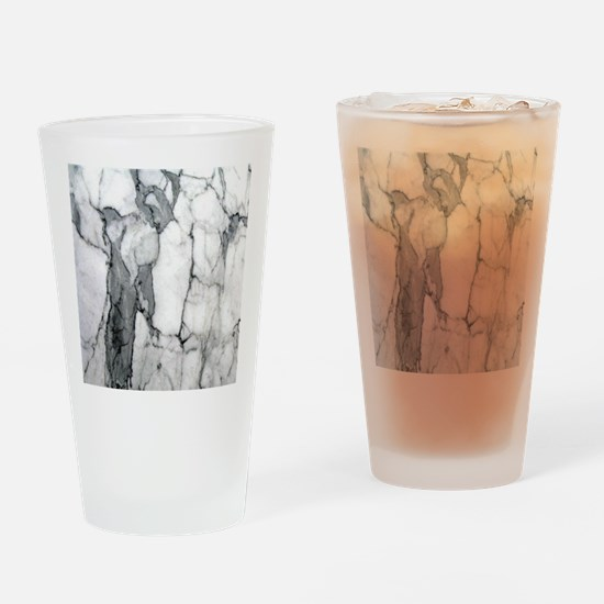 abstract chic white marble Drinking Glass