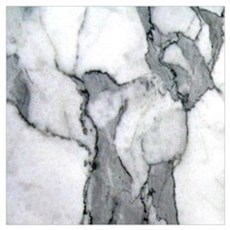 abstract chic white marble Poster