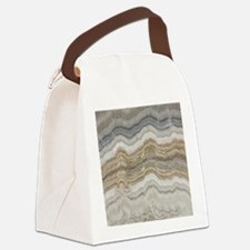 abstract chic white marble Canvas Lunch Bag