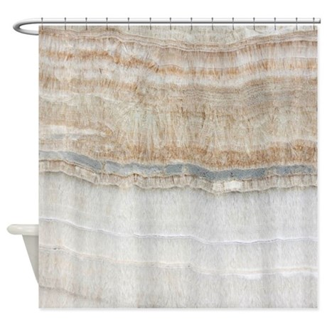 Superior Abstract Chic White Marble Shower Curtain